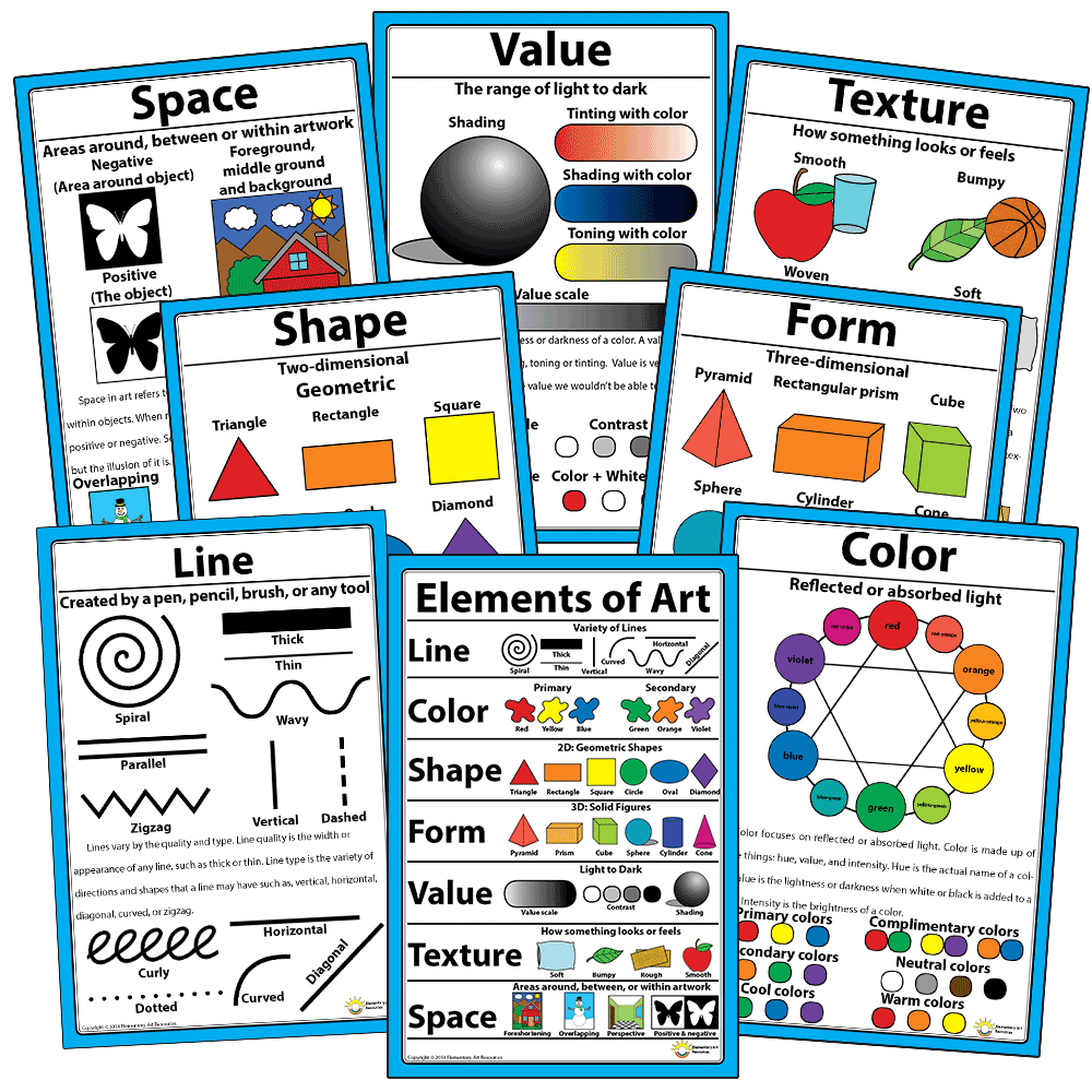 8 Elements Of Art : Elements of art elementary resources