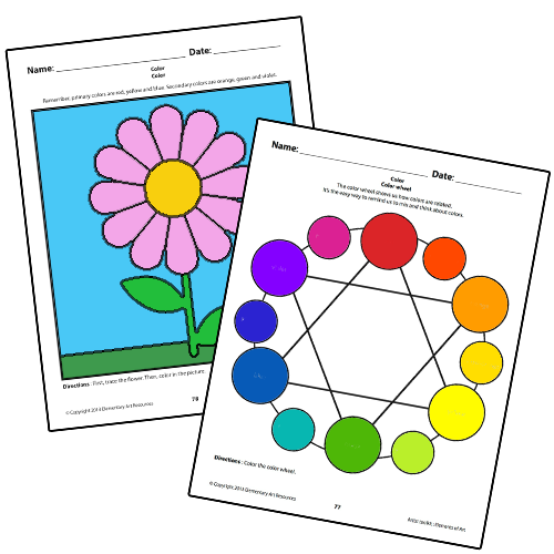 Elements Of Art Color : Freebies elementary art resources