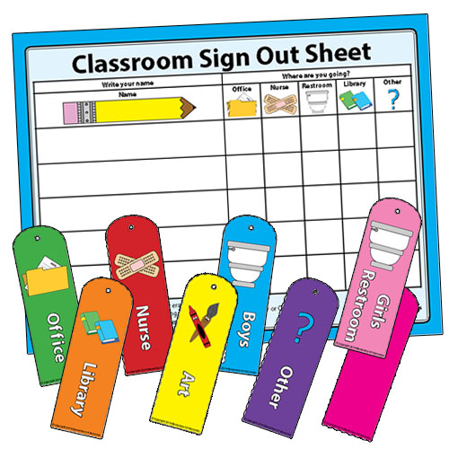 Classroom Sign Out  Elementary Art Resources