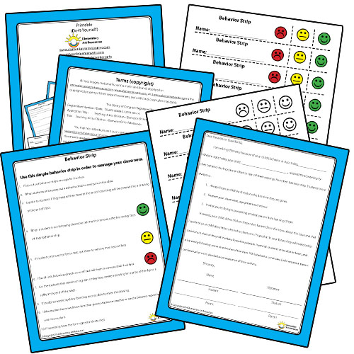 Classroom Behavior Strips