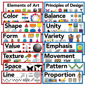 Elements of Art & Principles of Design Art Poster Set of 16 Posters 5