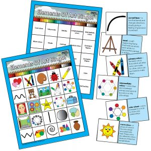 Elements of Art Bingo! Double Sided With Words & Pictures