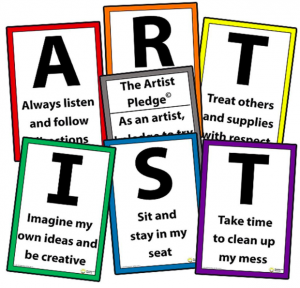 The Artist Pledge Posters