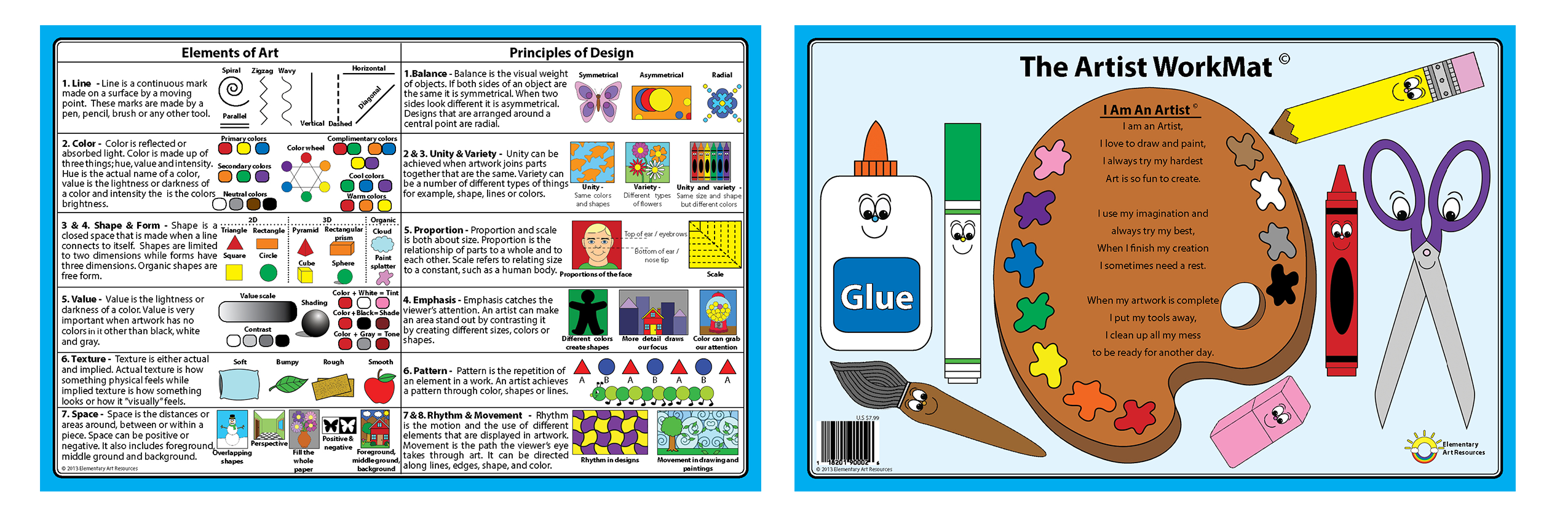 The Artist WorkMat - Elementary Art Resources